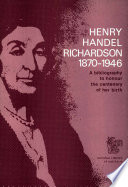 Henry Handel Richardson 1870 1946