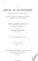 A Manual Of Palaeontology