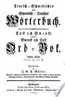 Teutsch Schwedisches und Schwedisch Teutsches W  rterbuch