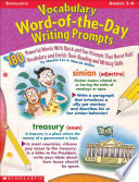Vocabulary Word Of The Day Writing Prompts