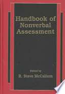 Handbook of Nonverbal Assessment