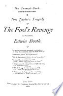 Tom Taylor s Tragedy of The Fool s Revenge Book PDF
