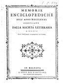 Memorie enciclopediche
