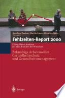 Fehlzeiten Report 2000