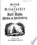 Versuch einer Biographie von Karl Egon, Fürsten zu Fürstenberg