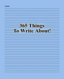 365 Things to Write About