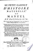 Le petit cabinet d'histoire naturelle, ou Manuel du naturaliste