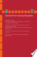 Zeitschrift f  r Kulturphilosophie 2016 1  L  gen