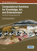 download ebook computational solutions for knowledge, art, and entertainment: information exchange beyond text pdf epub