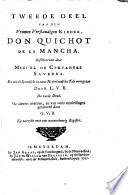 Den Verstandigen Vromen Ridder Don Quichot De La Mancha