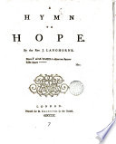 A Hymn to Hope  By the Rev  J  Langhorne