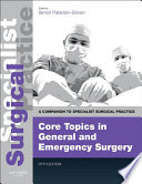 Core Topics in General   Emergency Surgery