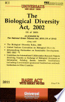 The Biological Diversity Act  2002