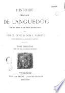 Histoire g  n  rale de Languedoc avec notes et pi  ces justificatives