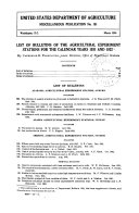 List of bulletins of the agricultural experiment stations for the calendar years 1931 and 1932