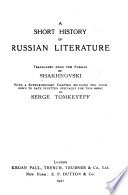 A Short History of Russian Literature