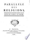 Parallele des religions. Tome 1. [-3.!