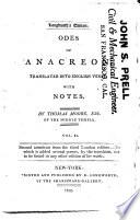 Odes of Anacreon,