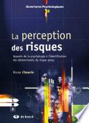 illustration du livre La perception des risques