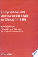 Komposition und Musikwissenschaft im Dialog II (1999)