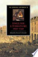 The Cambridge Companion to English Literature  1650   1740