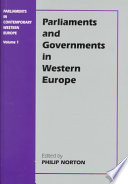 Ebook Parliaments and Governments in Western Europe Epub Philip Norton Apps Read Mobile