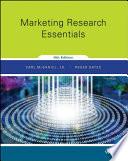 Marketing Research Essentials 9th Edition