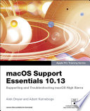 Macos Support Essentials 10 13 Apple Pro Training Series