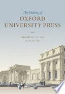 History Of Oxford University Press Volume Ii book