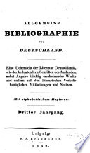 Allgemeine Bibliographie für Deutschland