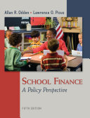 School Finance  A Policy Perspective