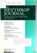 Heythrop journal