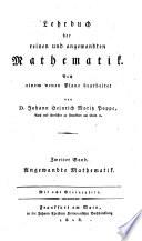 Lehrbuch der reinen und angewandten Mathematik  2  verb  u  verm  Aufl