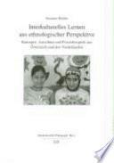 Interkulturelles Lernen aus ethnologischer Perspektive