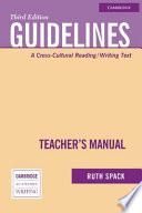 Guidelines Teacher s Manual