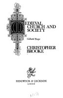 Medieval church and society