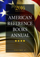 American Reference Books Annual By Practicing Academic Public And School