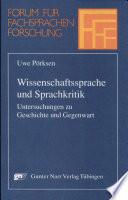 Wissenschaftssprache und Sprachkritik