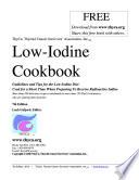 Low-Iodine Cookbook