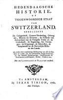 Hedendaagsche Historie Of Tegenwoordige Staat Van Switzerland En Italie