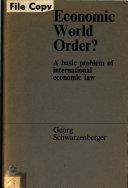 Economic World Order?