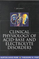 Clinical Physiology of Acid Base and Electrolyte Disorders