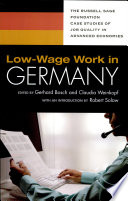 Low Wage Work in Germany