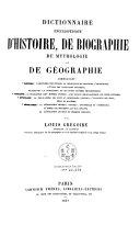 Dictionnaire encyclop  dique d histoire  de biographie  de mythologie et de g  ographie