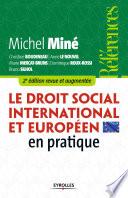 Le Droit Social International Et Europ En En Pratique