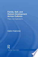 Family  Self  and Human Development Across Cultures