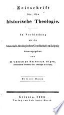 Zeitschrift fur die Historische Theologie