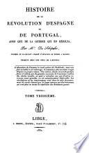 Histoire de la révolution d'Espagne et de Portugal