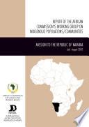 Rapport Du Groupe de Travail de la Commission Africaine Sur Les Populations communautes Autochines