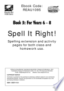 Spell It Right 3 40 Themes With Activities Including Word Building Sentences